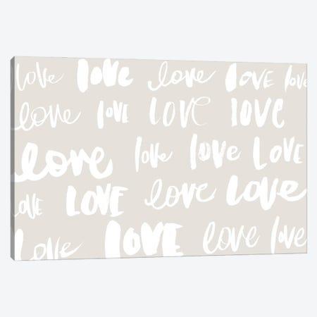 Love, Love, Love Canvas Print #SGS119} by Sd Graphics Studio Canvas Art Print