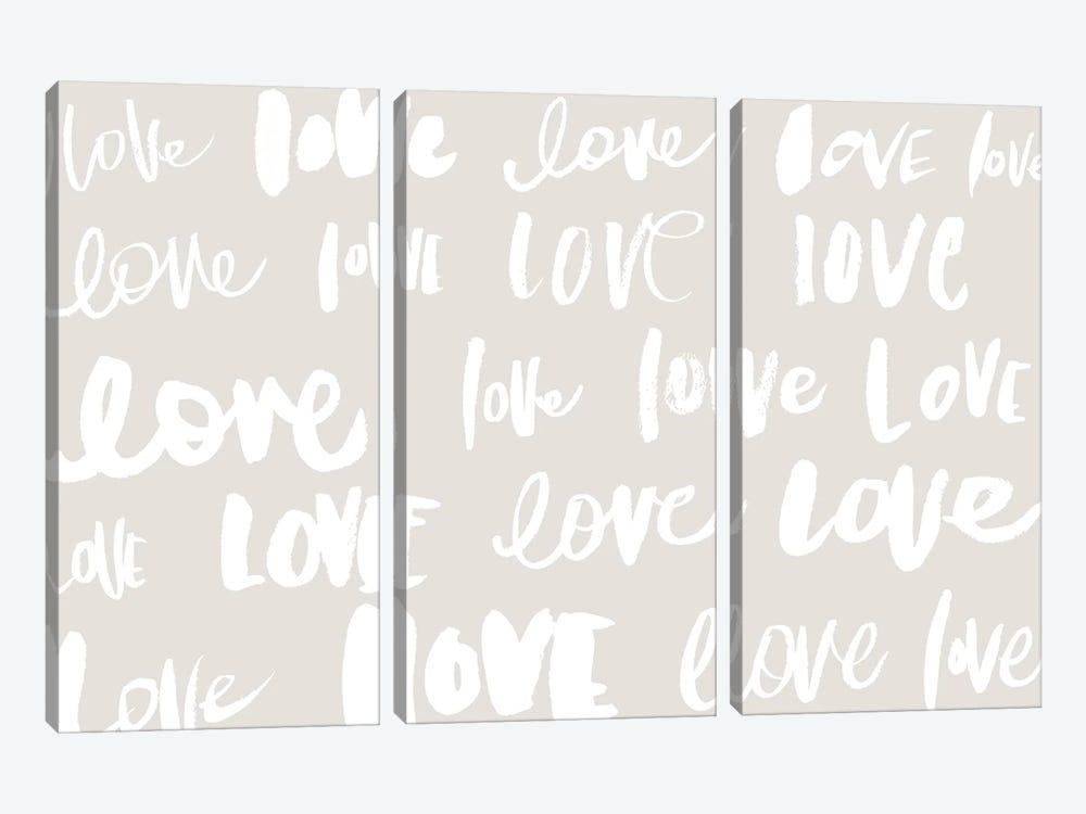 Love, Love, Love by Sd Graphics Studio 3-piece Art Print