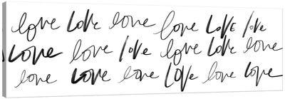 Love, Love, Love Canvas Art Print