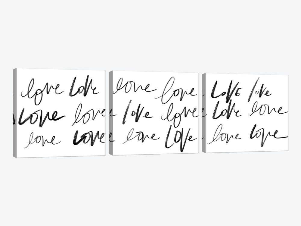 Love, Love, Love by Sd Graphics Studio 3-piece Canvas Art Print