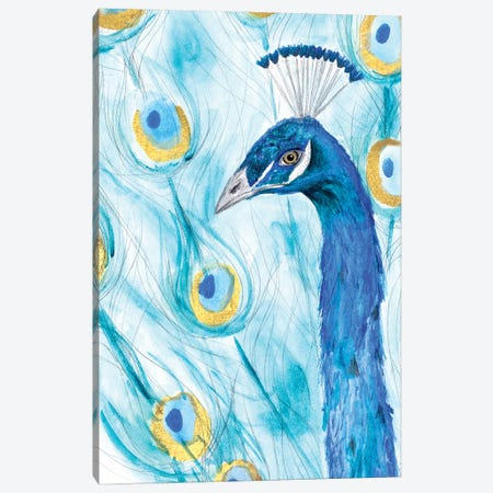 Majestic Peacock Canvas Print #SGS121} by Sd Graphics Studio Canvas Artwork