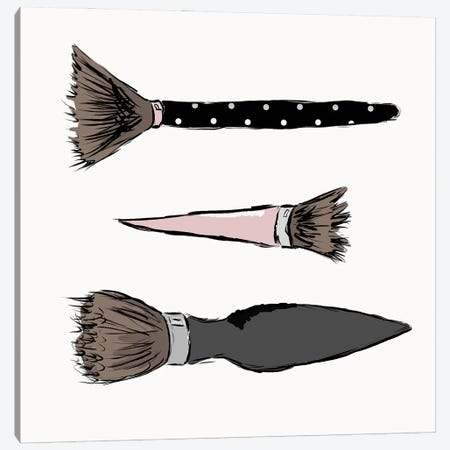 Makeup Brushes Canvas Print #SGS122} by Sd Graphics Studio Canvas Artwork