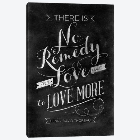 No Remedy Canvas Print #SGS126} by Sd Graphics Studio Canvas Art Print
