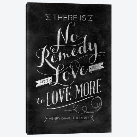 No Remedy Canvas Print #SGS126} by Sd Graphics Studio Canvas Art Print