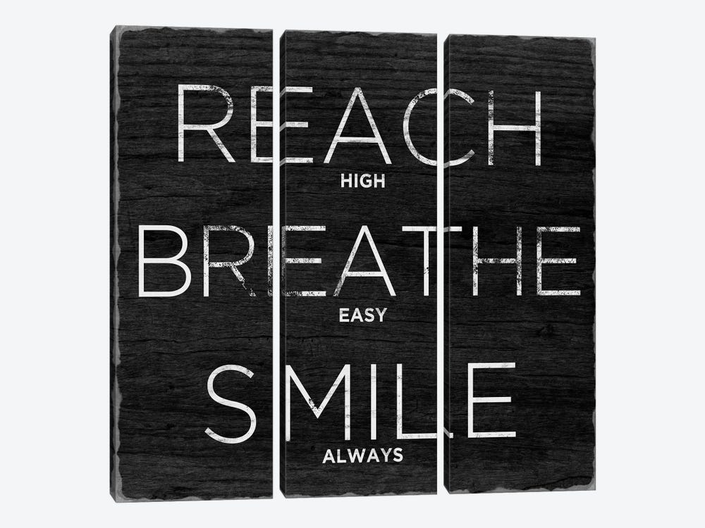 Reach, Breathe, Smile by Sd Graphics Studio 3-piece Canvas Wall Art