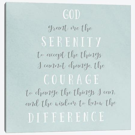 Serenity Prayer Canvas Print #SGS131} by Sd Graphics Studio Canvas Art Print