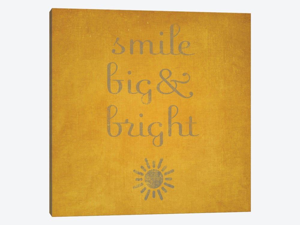 Smile Big & Bright by Sd Graphics Studio 1-piece Canvas Print