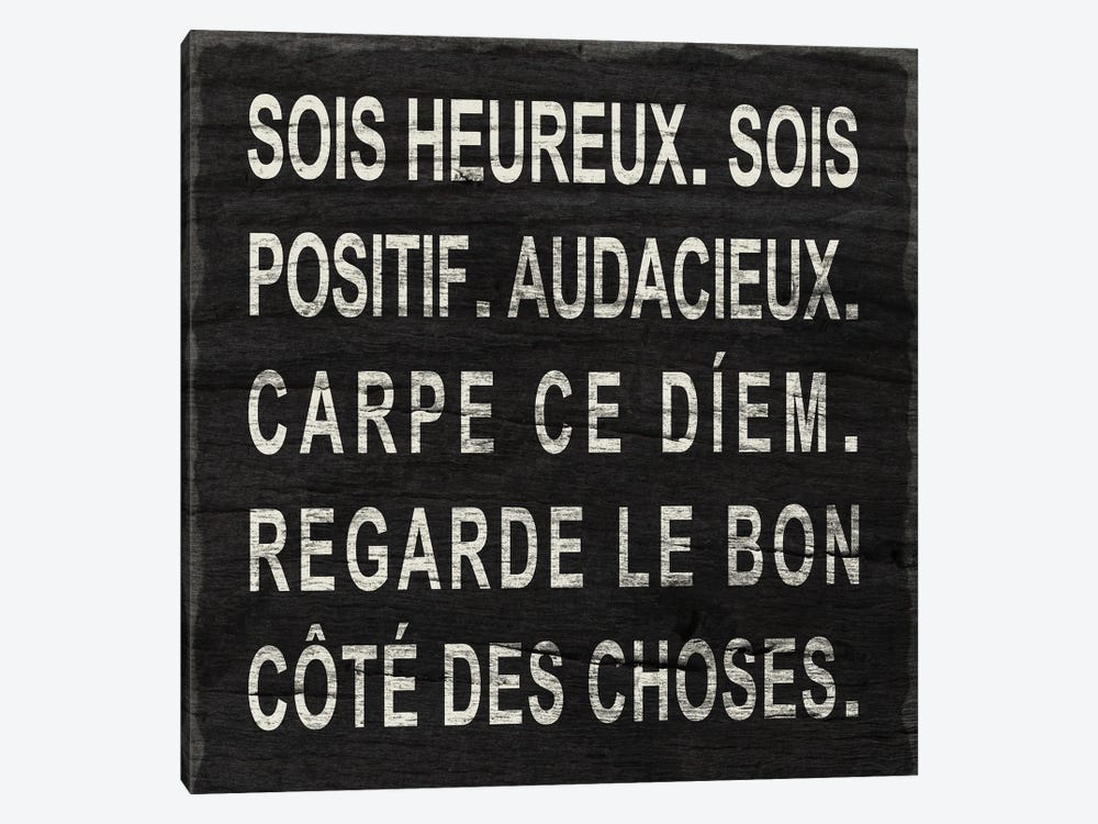 Think Happy (French) by Sd Graphics Studio 1-piece Canvas Art