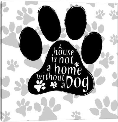 B&W Dog Paw I Canvas Art Print