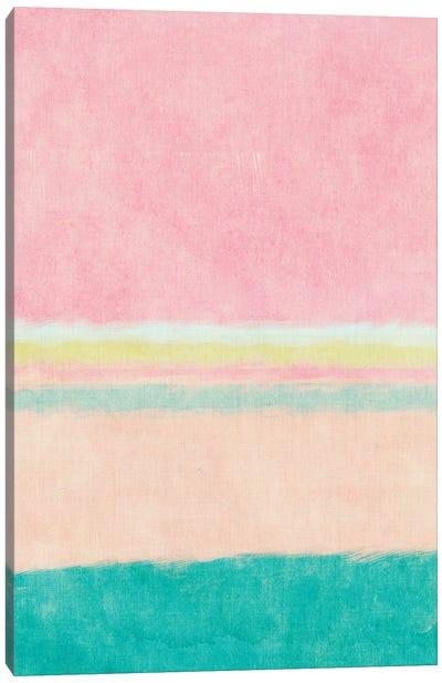 Rectangle Beach Blocks of Color I Canvas Art Print