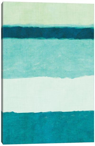 Rectangle Teal Blocks of Color II Canvas Art Print