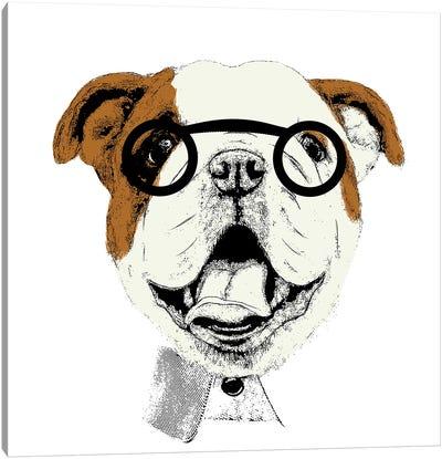 Studious Pup Canvas Art Print