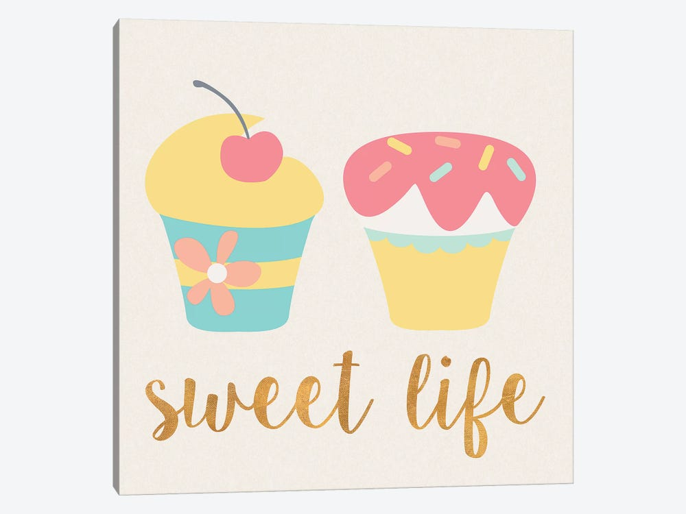 Cupcakes I by Sd Graphics Studio 1-piece Canvas Wall Art