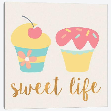 Cupcakes I Canvas Print #SGS16} by Sd Graphics Studio Art Print