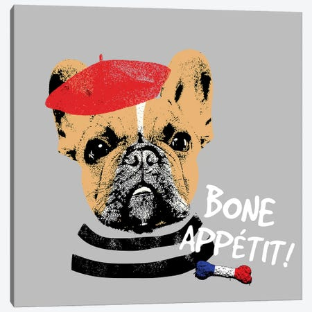Bone Appetit Canvas Print #SGS1} by Sd Graphics Studio Art Print