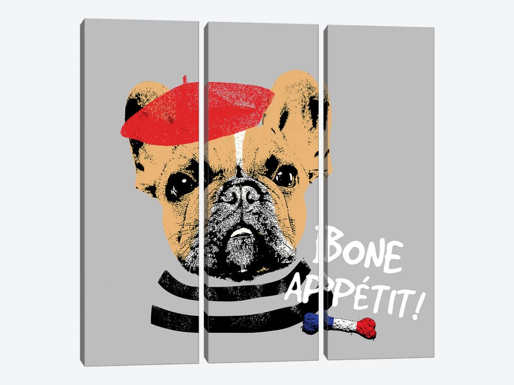 Bone Appetit by Sd Graphics Studio 3-piece Canvas Wall Art