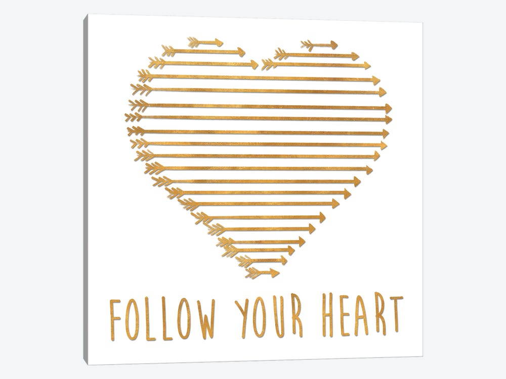 Follow Your Heart by Sd Graphics Studio 1-piece Canvas Art Print