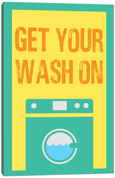 Get Your Wash On Canvas Art Print