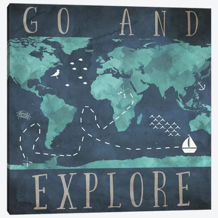 Go And Explore Canvas Print #SGS23} by Sd Graphics Studio Art Print