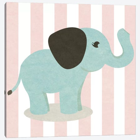 Happy Baby Animals I Canvas Print #SGS24} by Sd Graphics Studio Canvas Wall Art