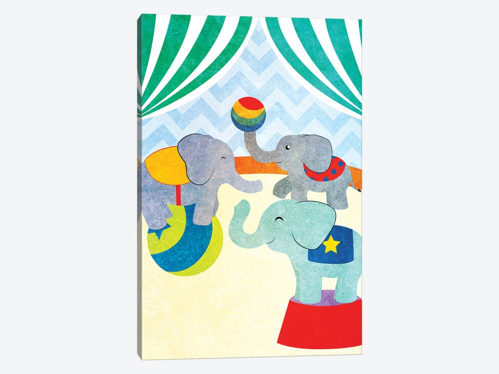 Elephants and Seals Center Stage I by Sd Graphics Studio 1-piece Canvas Art Print