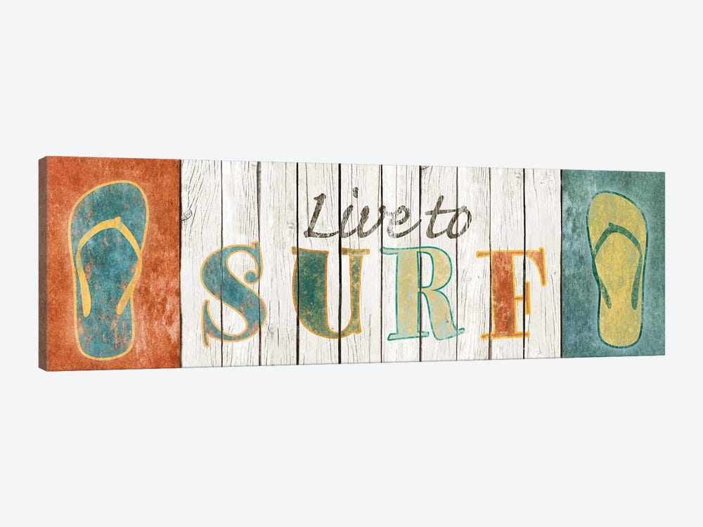 Live To Surf by Sd Graphics Studio 1-piece Canvas Art Print