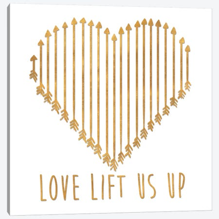 Love Lifts Us Up Canvas Print #SGS35} by Sd Graphics Studio Canvas Print