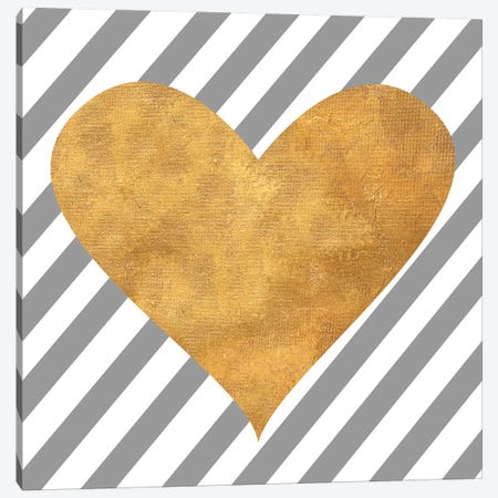 LoVIng Stripes Canvas Print #SGS37} by Sd Graphics Studio Art Print