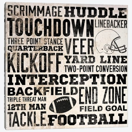 Sports Type I Canvas Print #SGS45} by Sd Graphics Studio Canvas Artwork