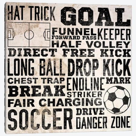 Sports Type III Canvas Print #SGS47} by Sd Graphics Studio Canvas Wall Art