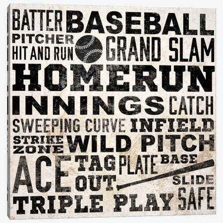 Sports Type IV Canvas Print #SGS48} by Sd Graphics Studio Art Print