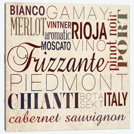 Wine Words I Canvas Print #SGS50} by Sd Graphics Studio Canvas Art