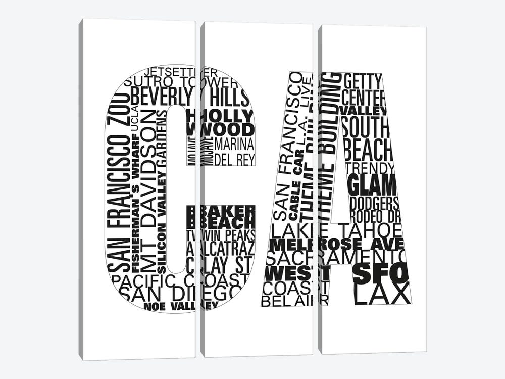 CA Type I by Sd Graphics Studio 3-piece Canvas Art