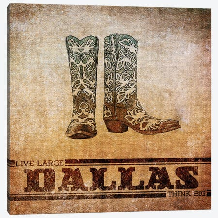 Dallas Canvas Print #SGS57} by Sd Graphics Studio Canvas Art Print