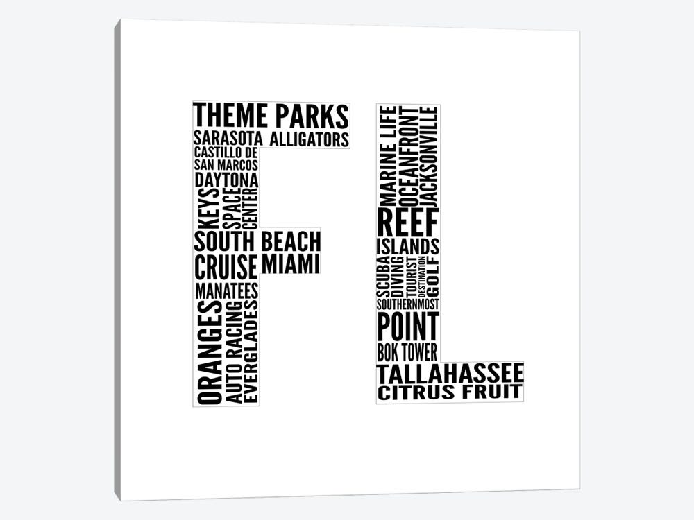 FL Type by Sd Graphics Studio 1-piece Art Print