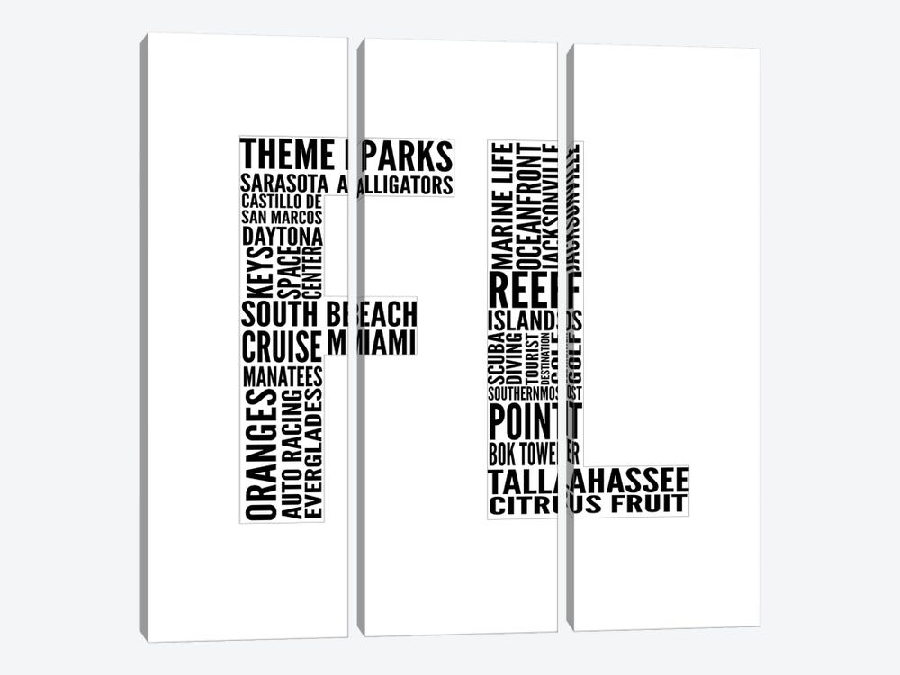 FL Type by Sd Graphics Studio 3-piece Art Print