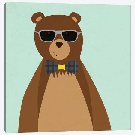 Hipster Bear II Canvas Print #SGS5} by Sd Graphics Studio Canvas Art