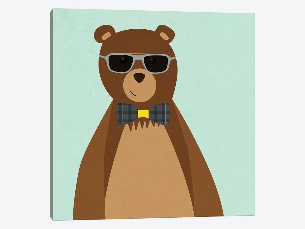 Hipster Bear II by Sd Graphics Studio 1-piece Canvas Artwork