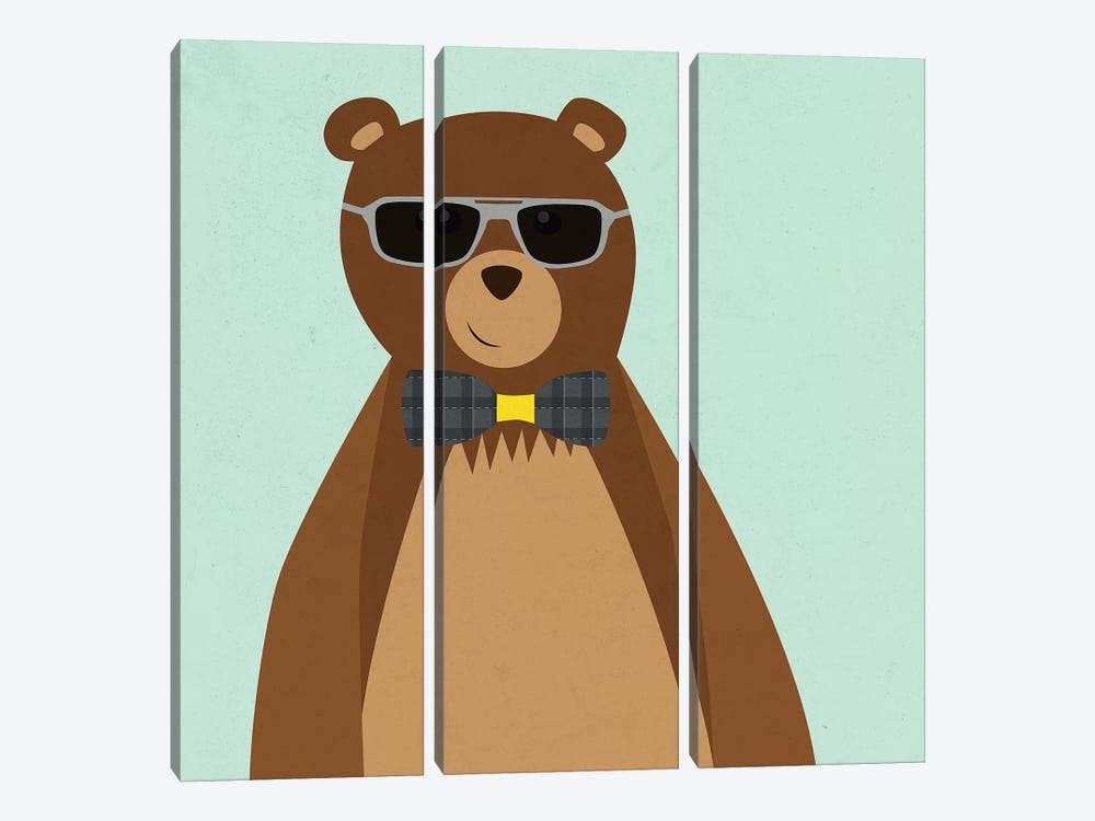 Hipster Bear II by Sd Graphics Studio 3-piece Canvas Art