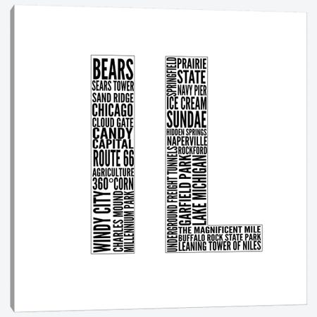 IL Type Canvas Print #SGS60} by Sd Graphics Studio Canvas Print