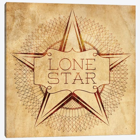 Lone Star Canvas Print #SGS61} by Sd Graphics Studio Canvas Print
