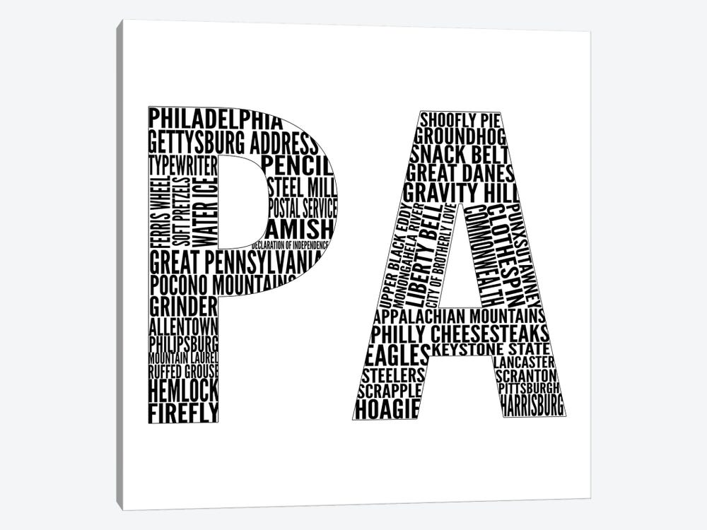 PA Type by Sd Graphics Studio 1-piece Canvas Artwork