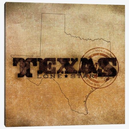 Texas Lone Star Canvas Print #SGS66} by Sd Graphics Studio Canvas Art