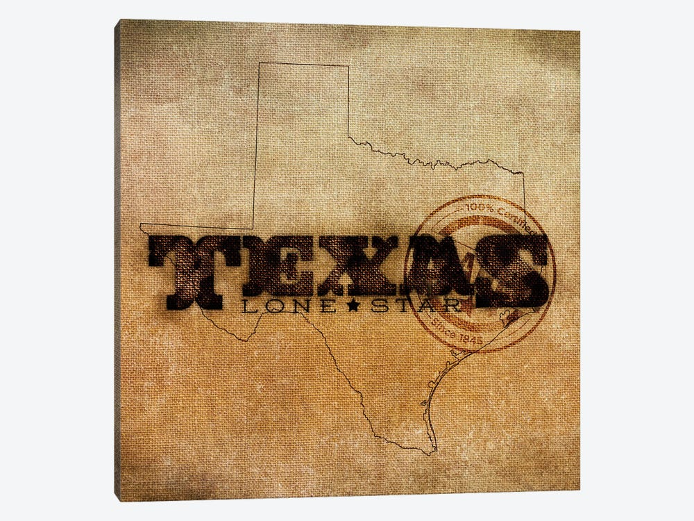 Texas Lone Star by Sd Graphics Studio 1-piece Canvas Print