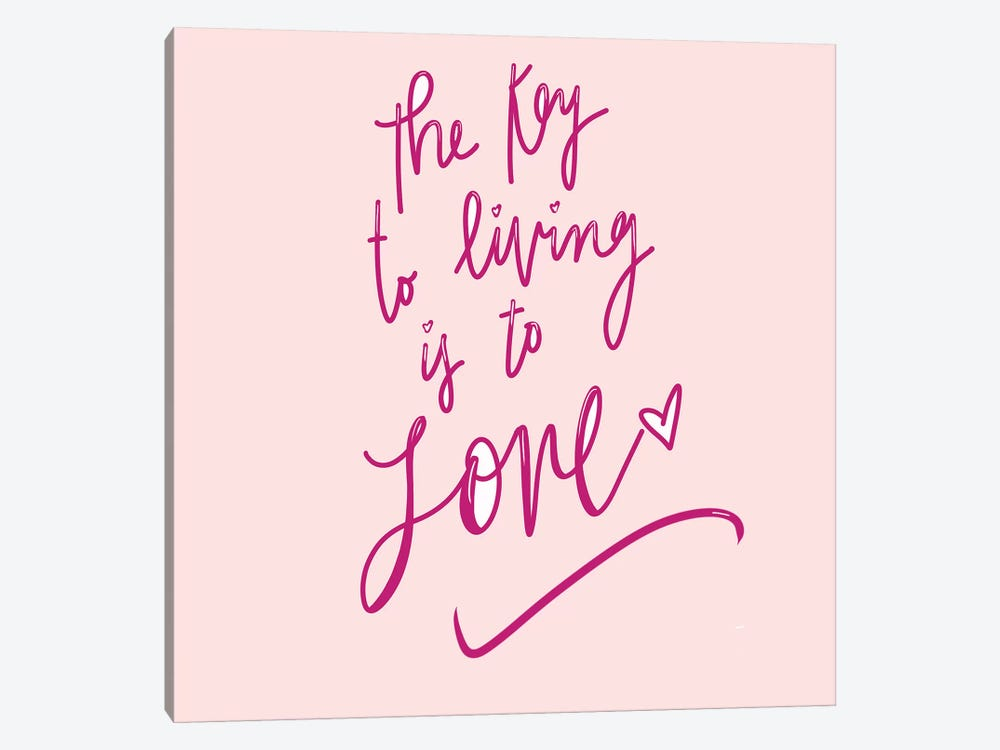 The Key To Living Is To Love by Sd Graphics Studio 1-piece Canvas Artwork