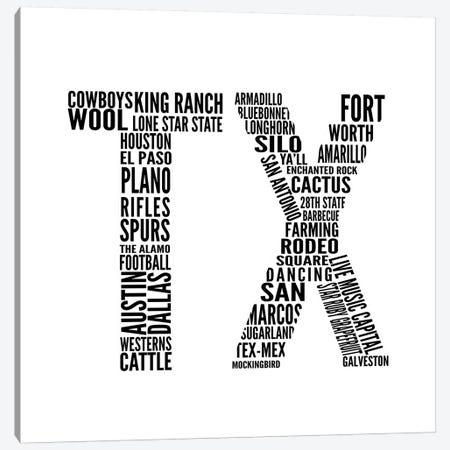 TX Type Canvas Print #SGS68} by Sd Graphics Studio Art Print