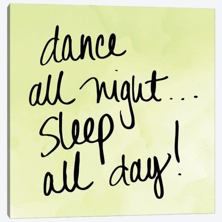 Dance and Sleep Canvas Print #SGS69} by Sd Graphics Studio Canvas Art Print