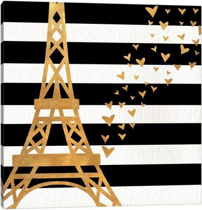 Eiffel Tower Love Canvas Art Print