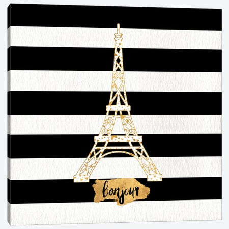 Gold Paris Collection II Canvas Print #SGS72} by Sd Graphics Studio Canvas Artwork