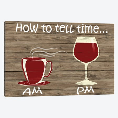 How to Tell Time Canvas Print #SGS73} by Sd Graphics Studio Canvas Art